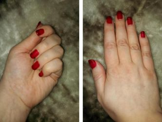 Red Fench Tips by Muggle-Angel