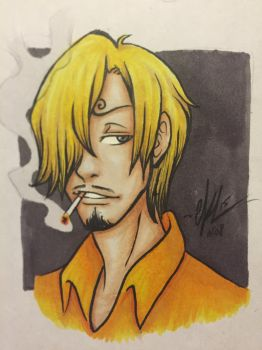 Black Leg Sanji by RaeQuinnArt
