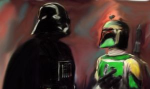 Darth Vader And Boba Fett by LilithDais