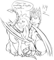 Moves on the Dragon Queen (Sketch Commission) by Kenisu-of-Dragons