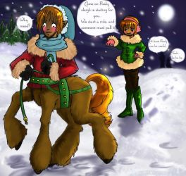 Sleigh ride by Ginger-Wolfy