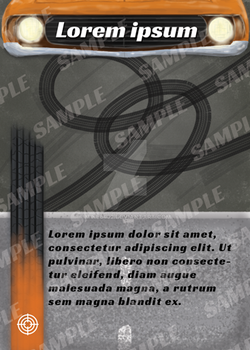 Car Racing Game Card Sample by mike6432