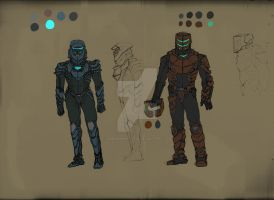 Dead Space- Armor Concepts by MARINEMANTIS3YE