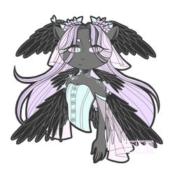 Goth/Cat/Spring/Human/Wings|| Request #25 by poartto-7733