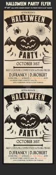 Vintage Halloween Party Flyer Template by Hotpindesigns