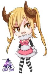 Lucy Heartfilia Chibi|Fairy Tail Render #3 by celestialwizzard