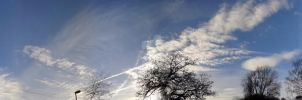 Sky with clouds by blackroselover