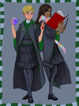 Slytherin Girlies by suzuia
