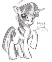 Twilight Sparkle sketchydoodle by NuclearKitsune