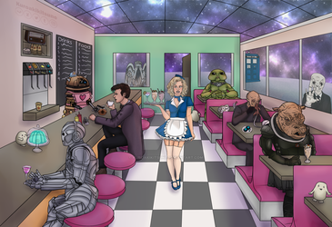 The place inbetween, the diner of dreams by kuroakikitsune