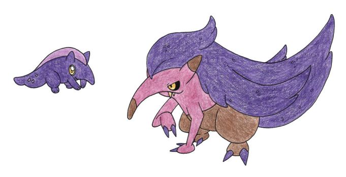 Anteaters by FrozenFeather