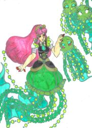 Royal Jellyfish Lady and her Pets by Winter-Colorful