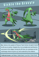 Sickle the grovyle ref page by Risenpaw
