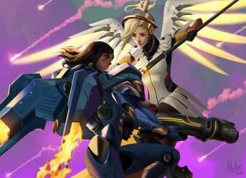 Overwatch: Pharmercy by MeTaa