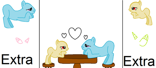 lovey dovey mlp base by Magicalscarfghost