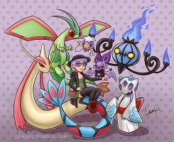 Pokemon Trainer - Neoxie (Commission Exmpl) by Lukael-Art