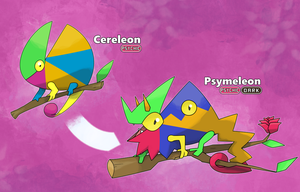 Cereleon and Psymeleon by slickedbackArtisan