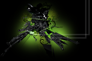 Green Abstract 3D by JhonnySilva