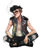 Punk Harry Potter by artofpan