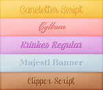 Font Pack 10 by Monikanarnia
