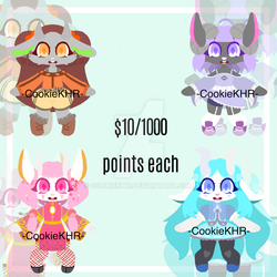 Random anthro adoptable batch- OPEN by CookieKHR