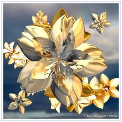 GOLD AND SILVER FLOWER by GeaAusten