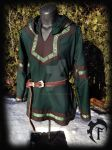 Green and Brown Viking Larp Tunic