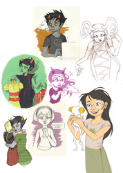Homestuck Art Dump by raddishh