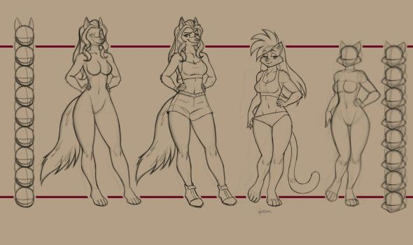 Model sheet. by Drawing-4Ever