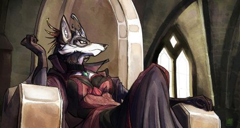 CCommission - Wolf Queen by Darbaras