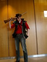 TF2 RED Sniper Cosplay by DrunkenFangschrecke