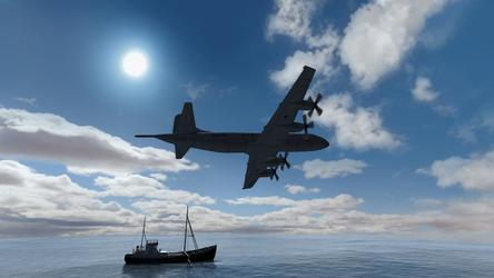 Daz Caparros Mausel P3 Fishingboat Flyby 3 by anthsco