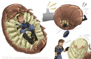 A Boy and a Giant Roly Poly by RadenWA