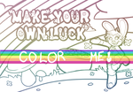 Make Your Own Luck - Coloring Page by graveyardcritter