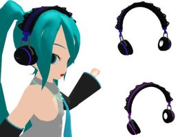 MMD Njxa Hatsune Miku 2020 Headphone Download by 9844