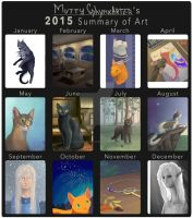 2015 Summary of Art by katzendiosa
