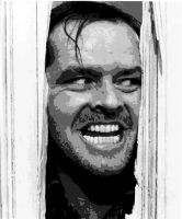 The Shining Jack Nicholson Paint By Number Art Kit by numberedart