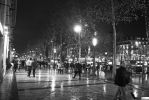 Paris the city of light - The champs in BW by Rikitza