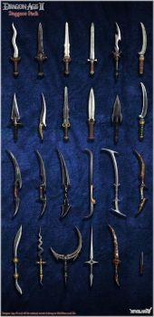 Dragon Age II: Daggers Model Pack by Berserker79