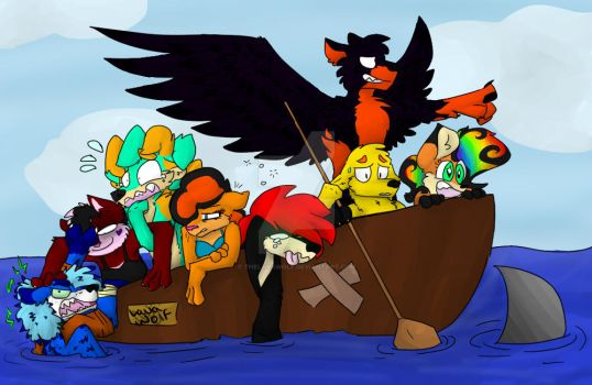 Draw the Squad - Boat Ride! by TheLavaWolf