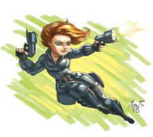 Mini Black Widow by YelZamor