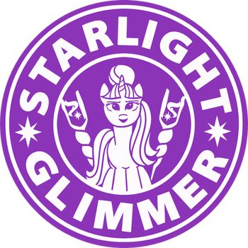 Starlight Glimmer Coffee - Starbucks logo parody by Cwossie
