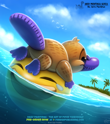 Daily Painting 1644# - Plastipus by Cryptid-Creations