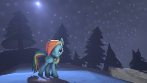 Rainbow dash, cold moon [Electric][SFM] by ZOomERart