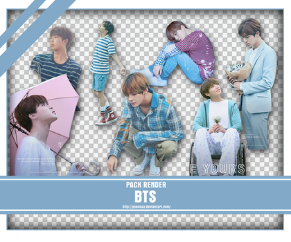 SHARE RENDER BTS LOVE YOURSELF POSTER by yooncua
