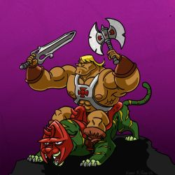 He-Man and Kitty-Kat by Hen-Hen