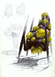 Zerg Giant Spawner Concept by Sooly