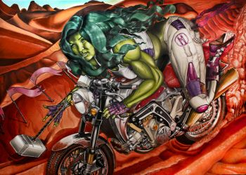 She-Hulk: Retrieval of Mjolnir by QuincMSK