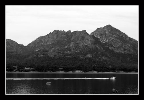 The mountains around Freycinet by danceart