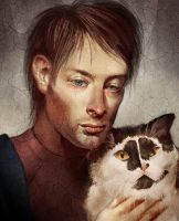 Thom Yorke loves Kitteh by EponaN64